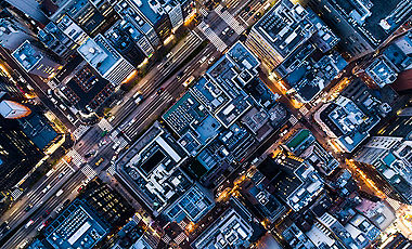 Aerial shots of buildings and rooftops Japan