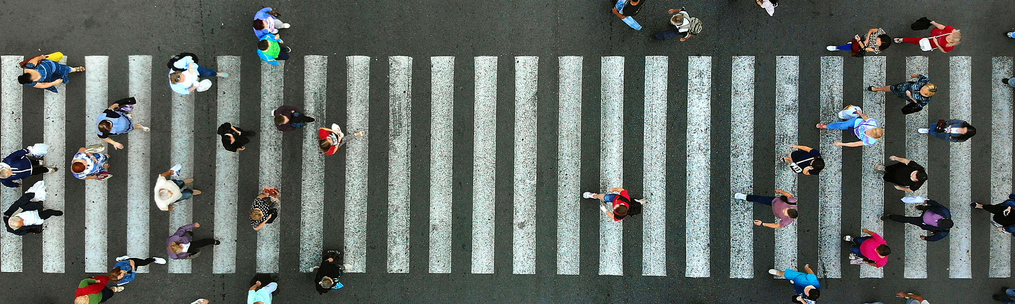 Aerial pedestrian crossing