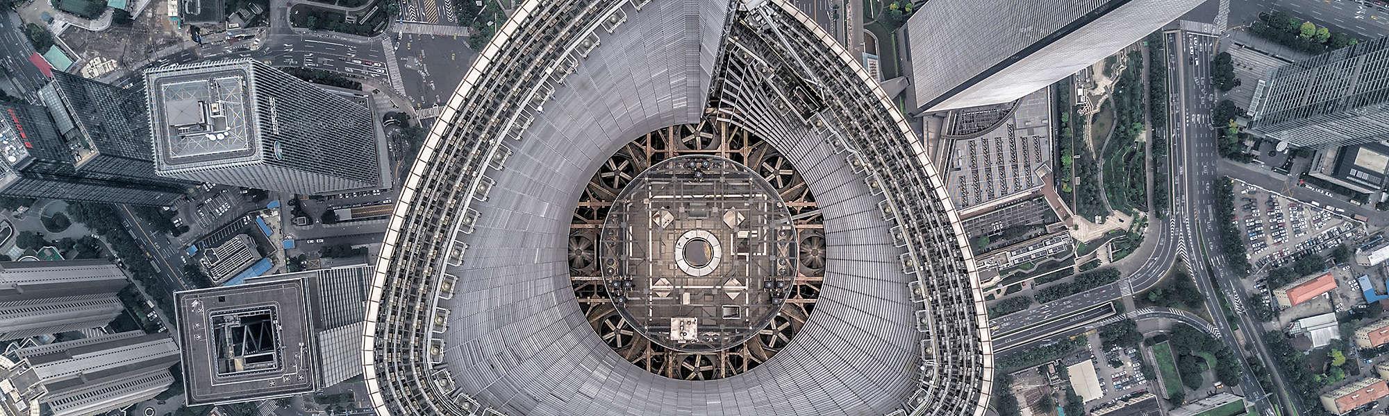 aerial shanghai financial banner