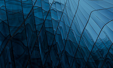 Blue Glass Wave Banner