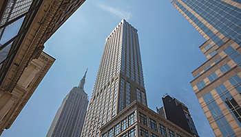Manhattan buildings empire sky NYC