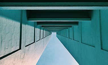 Concrete architectural tunnel