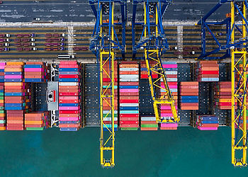 Container cargo freight ship port