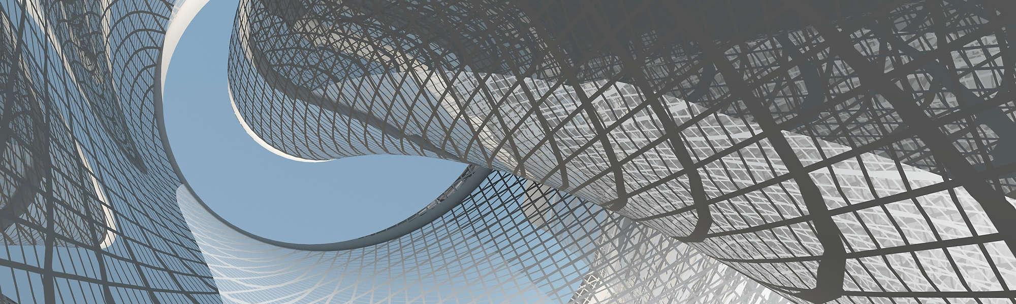 Contemporary architecture curve metallic sky