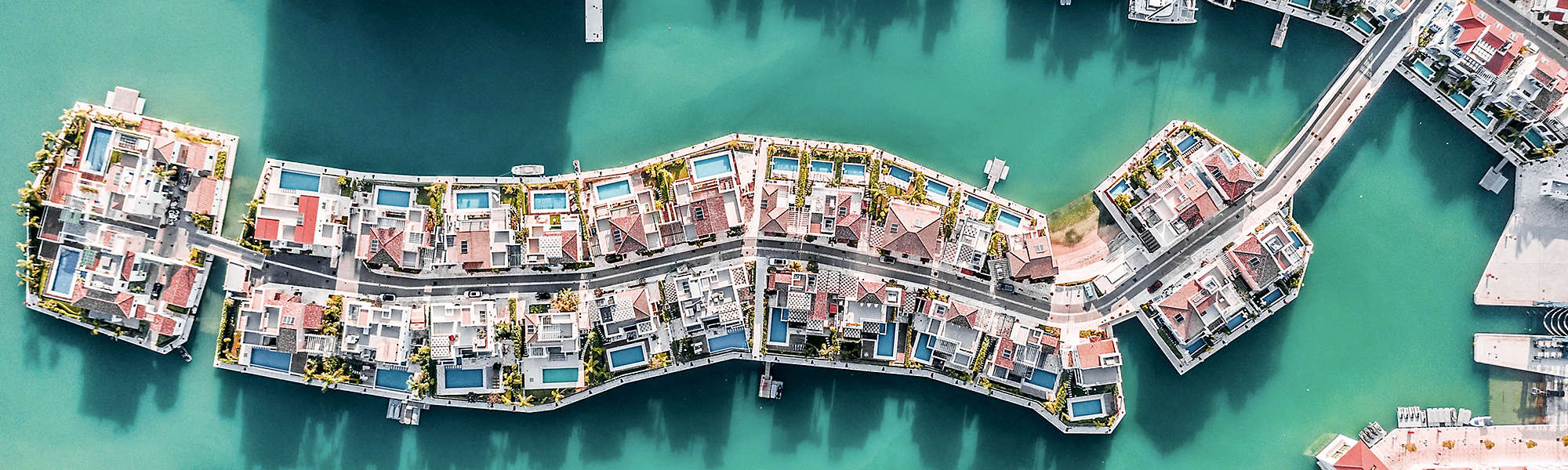 High Angle View Boats River