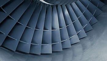Aircraft jet engine turbine