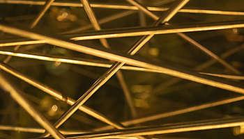 Detailed modern metallic abstract sculpture
