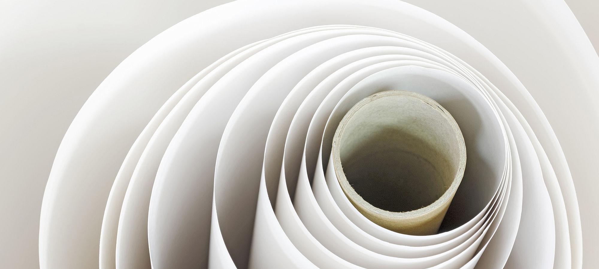 Paper roll spiral printshop