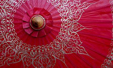 Paper parasols umbrellas