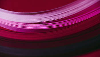Abstract pink red paper wave