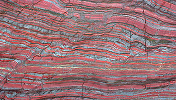 Pink striped stone