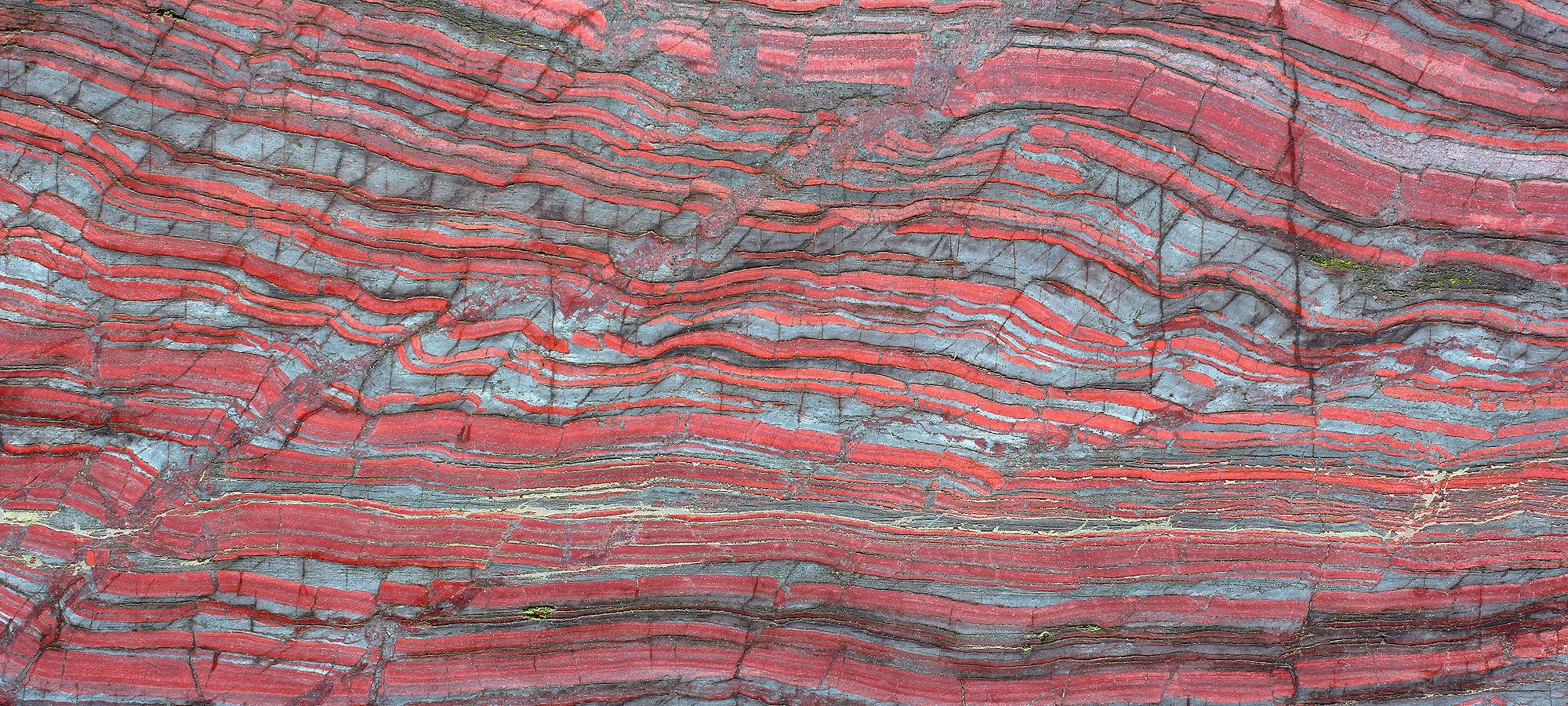 Pink striped stone