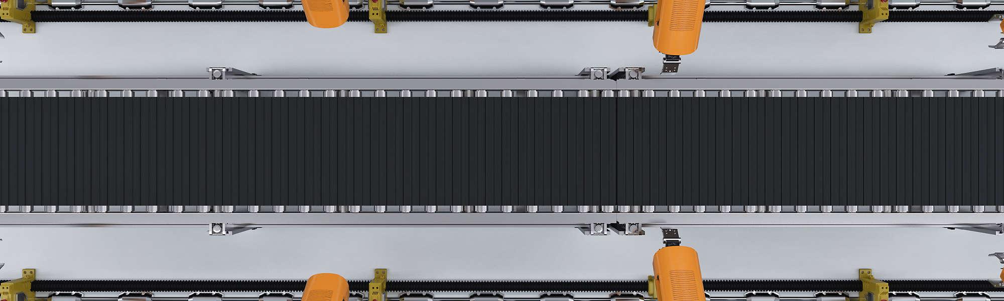 Robotic machine conveyor factory