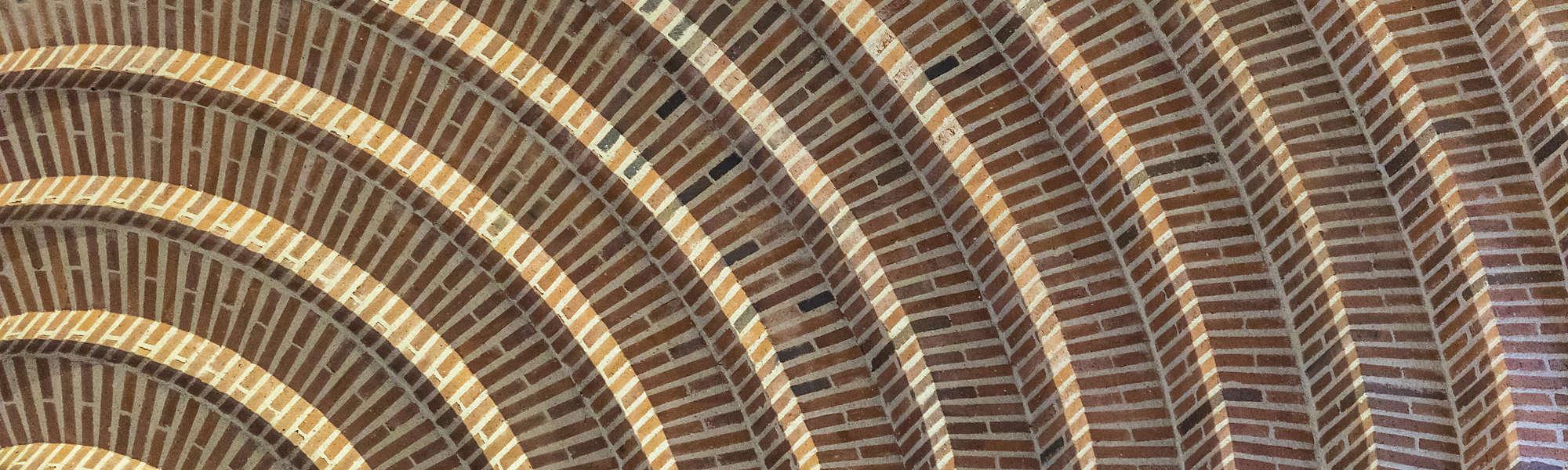 Church brick spiral circle pattern