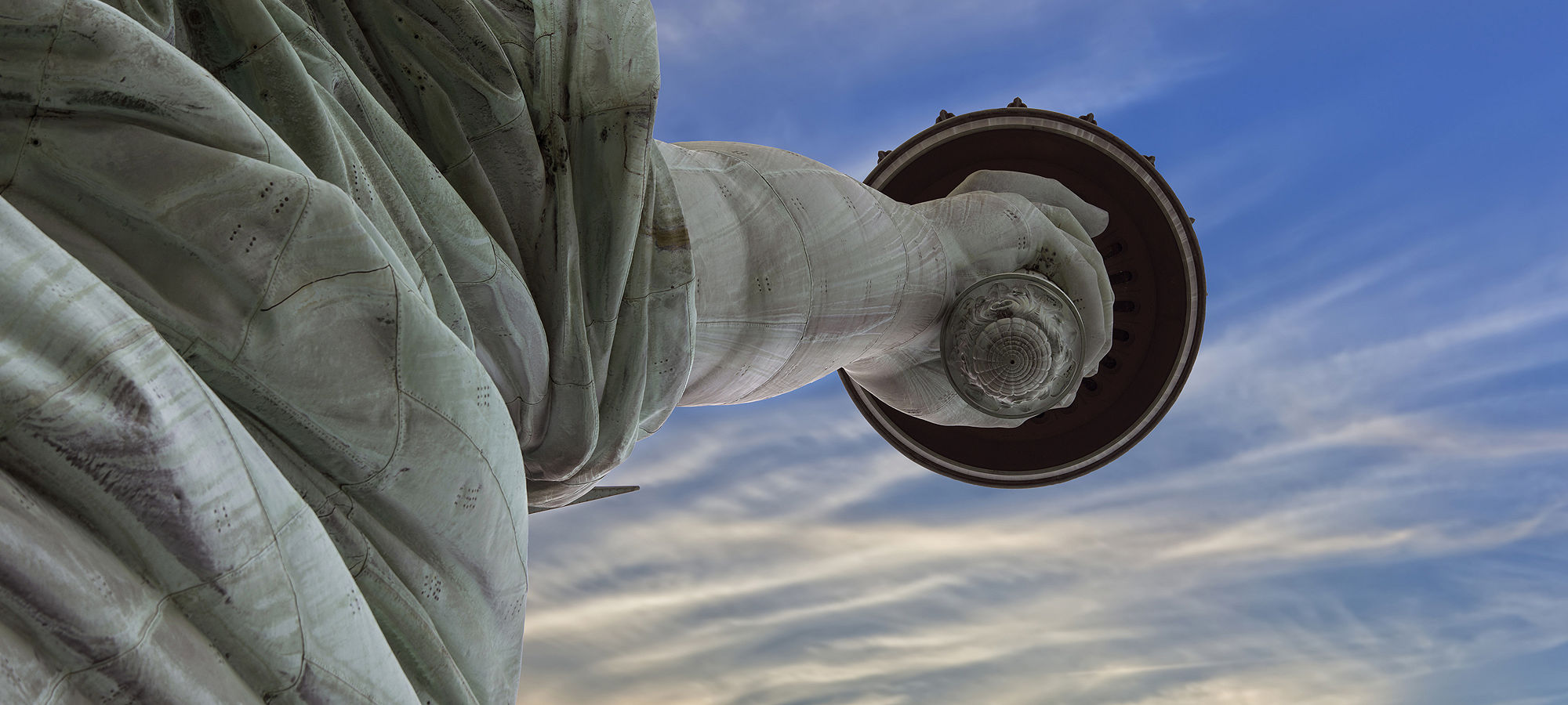 Statue liberty upward NYC Manhattan