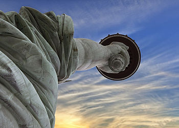 Statue liberty upward NYC Manhattan