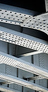 Steel beams railway bridge London