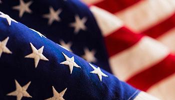 Closeup of U.S. flag