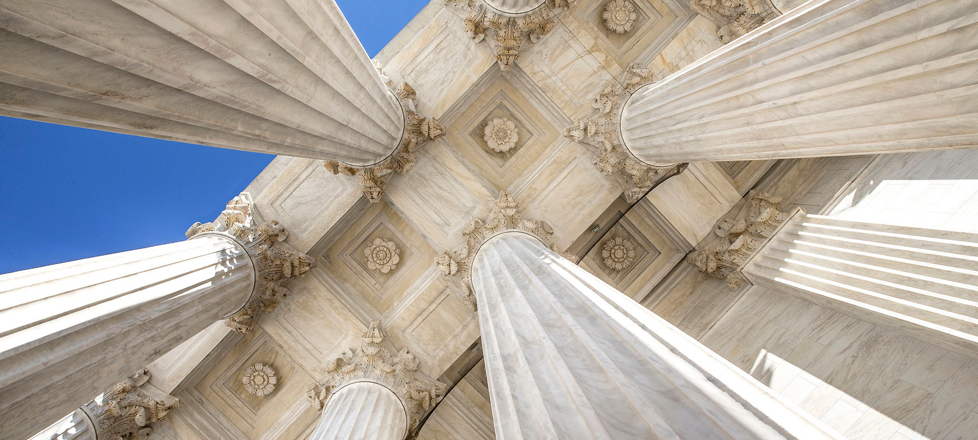 US Supreme Court Columns from underneath offering an unusual perspective