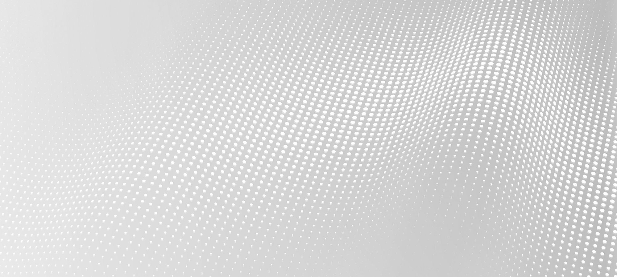 Wave pattern of white dots on a gray background