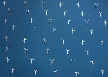 Windmills on sea